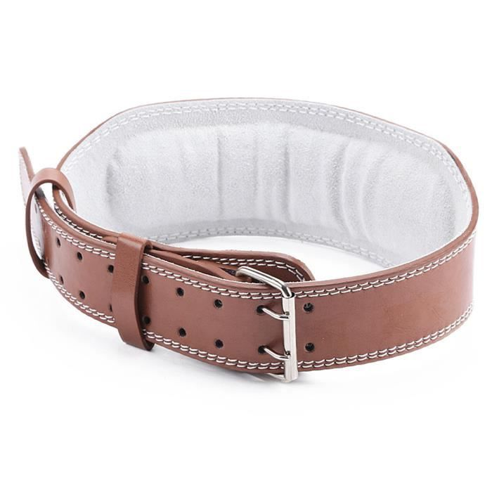 Vanker PU Ceinture de levage profonde Squat lombaire Power Support  Formation taille Band - Brun - M b272f6fbfff