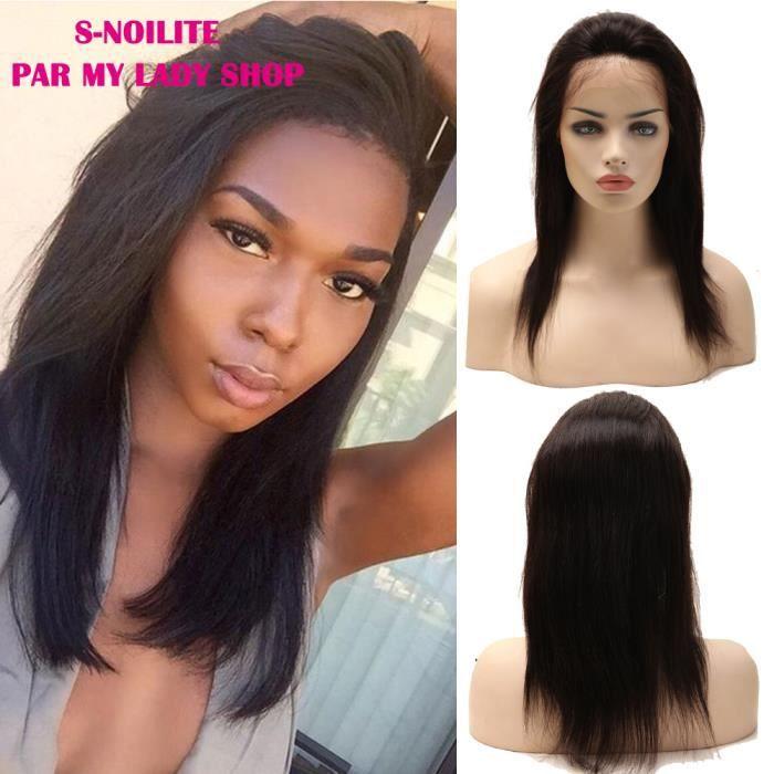 S-NOILITE Perruque Cheveux Humains Bresiliens
