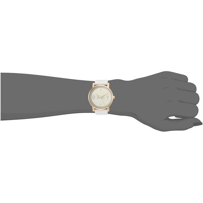 Dkny Ny2632 Soho blanc montre en silicone ETF4G