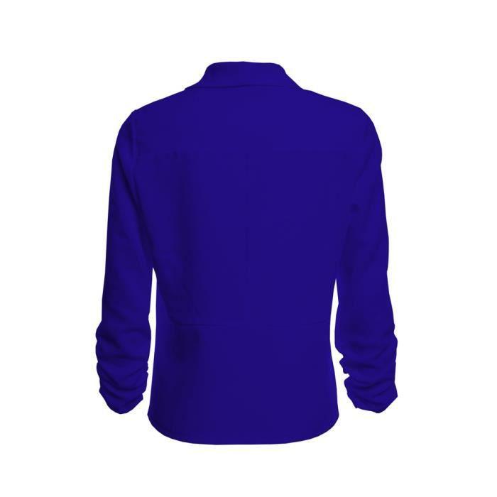 3 De Travail Bj4542 Manteau Bureau Ouvert Blazer Costume Cardigan Veste Femmes Manches 4 Court Avant qxAwpF4