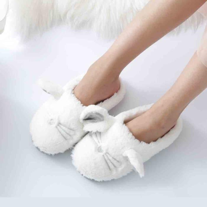 Chaussures Confortable Accueil Pantoufles yini2457 En Mignon Peluche Souple Cozy Femmes Semelle Intérieur HqzFwO7
