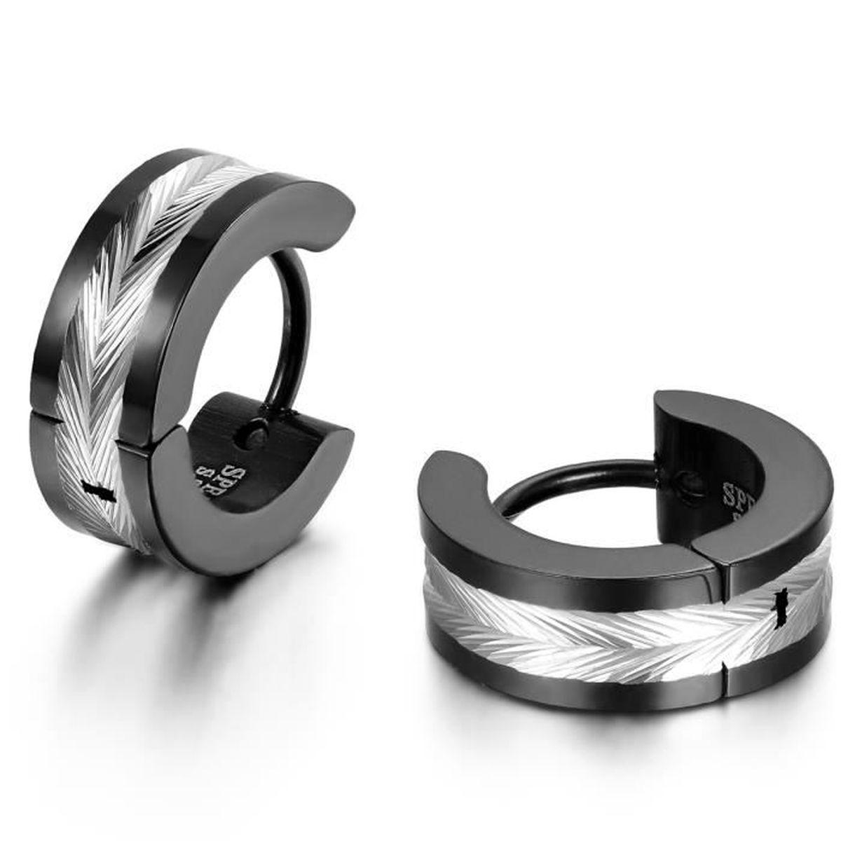 jewelrywe bijoux boucles d 39 oreilles homme forme plume. Black Bedroom Furniture Sets. Home Design Ideas