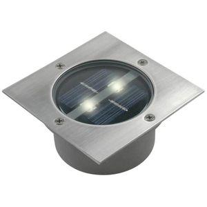RANEX Spot solaire Led carré encastrable Carlo - Acier