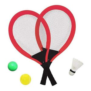 GRIP RAQUETTE DE TENNIS Jeu De Raquettes Tennis Badminton Set, 3 in 1 Jeux