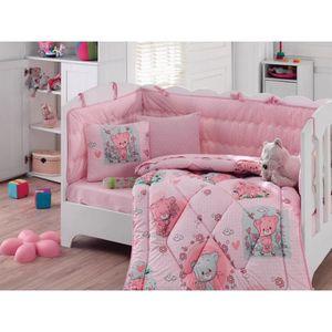 pack linge de lit set de lit bb fille pices coton with chambre bebe fille pas cher. Black Bedroom Furniture Sets. Home Design Ideas