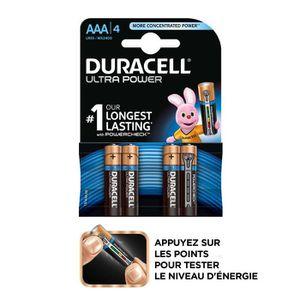 PILES DURACELL 4 Piles Ultra Power Alcaline LR03/AAA