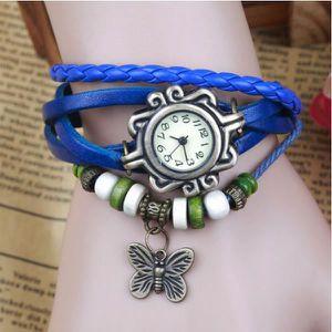 MONTRE 183-5 rétro montre de mode en cuir bracelet à remo