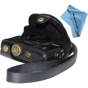 COQUE - HOUSSE - ÉTUI Etui de protection en cuir noir pour appareils pho