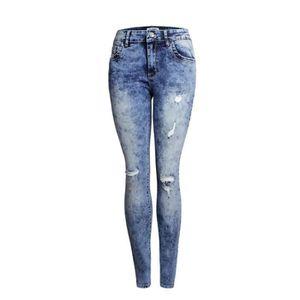 Jeans femme taille basse dechire - Achat   Vente pas cher 8d19609e1fa3