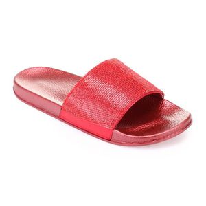 173a00c3a3bf9 MULE Mules rouges à strass grandes tailles-41 ...
