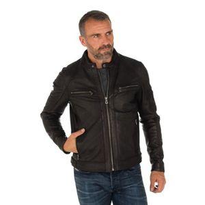 763b112a6f621 Blouson en cuir homme daytona noir - Achat   Vente pas cher