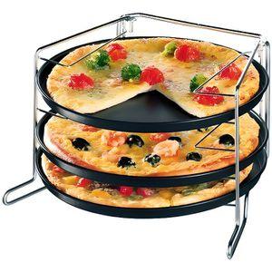 PLAT POUR FOUR Set Cuisson pour Pizza - 4 Pièces - Teflon Prima
