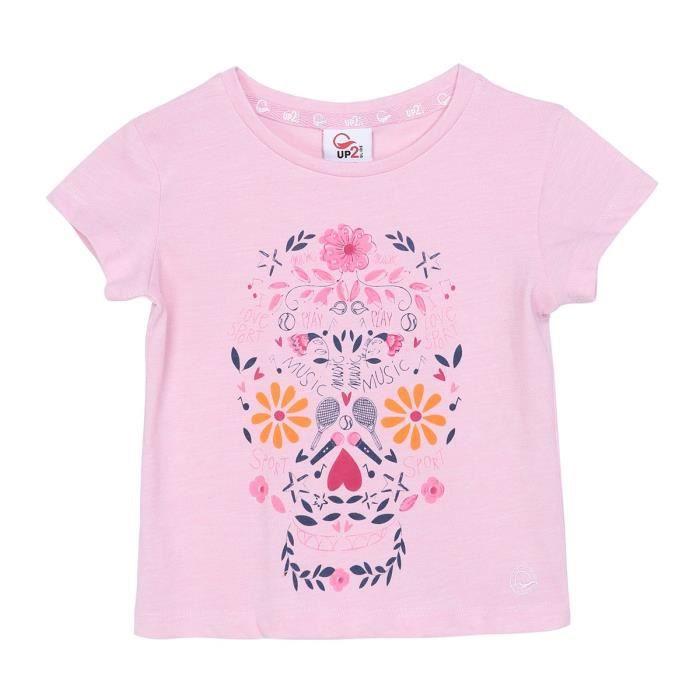 UP2GLIDE T-shirt Ella - Enfant Fille - Rose poudré
