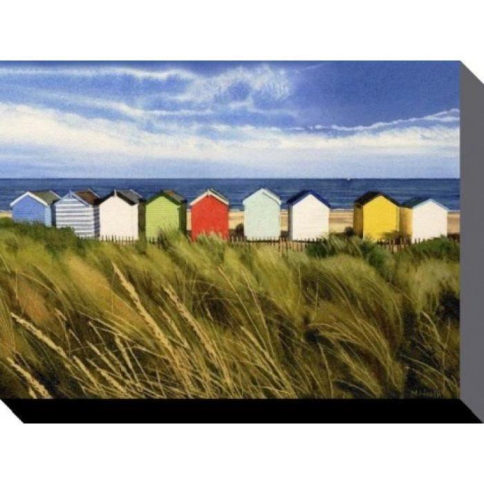 Maisons de plage reproduction sur toile cabanes de plage for Toile de plage ikea