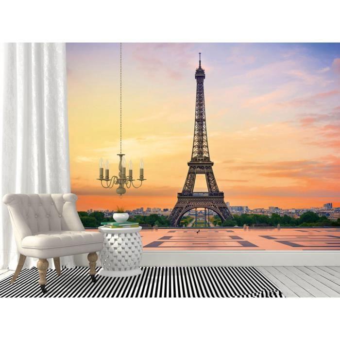 Papier peint Tour Eiffel Paris noir et blanc   Achat / Vente