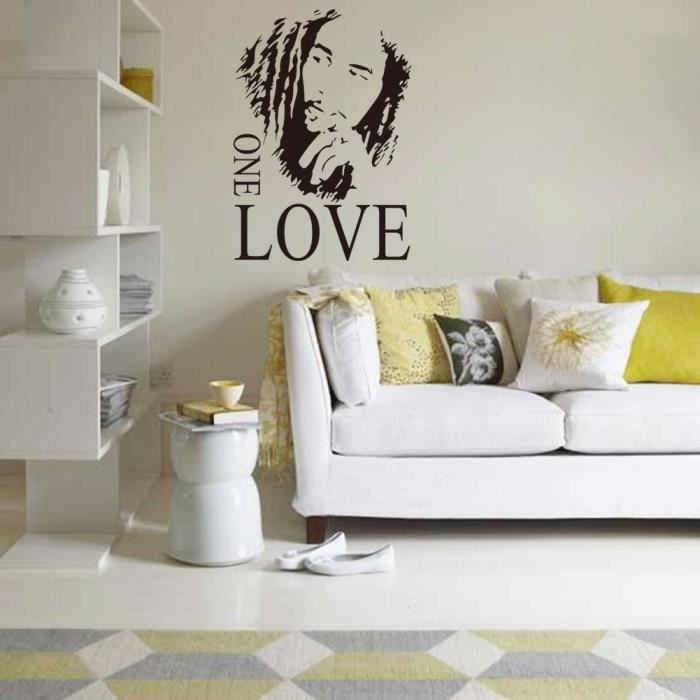 Stickers Muraux BOB MARLEY ONE LOVE - Achat / Vente stickers ...