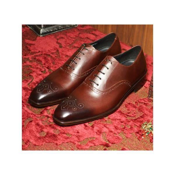 61bb85ff7ca005 Chaussures italiennes haut de gamme Rouge marron - Achat / Vente ...