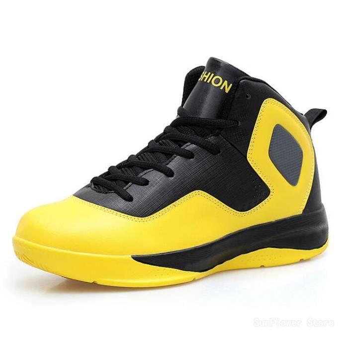 Chaussures de Basket Homme Grande pointure Taille 47 Nouveau Chaussure de sport - JAUNE J74l26oEM