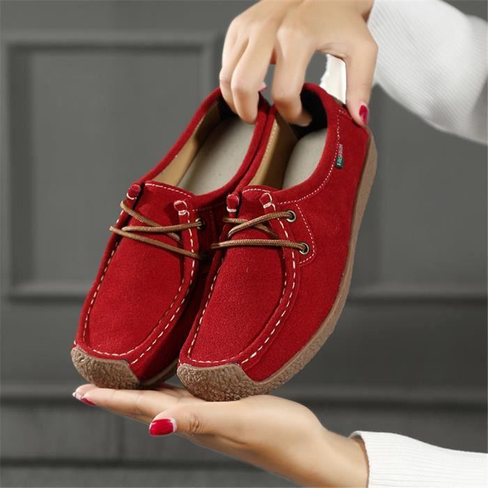 Chaussures plates Femmes personnalité Antidérapant Moccasins Série printemps et automne Chaussures pour Femme Plus De Couleur IXA8M