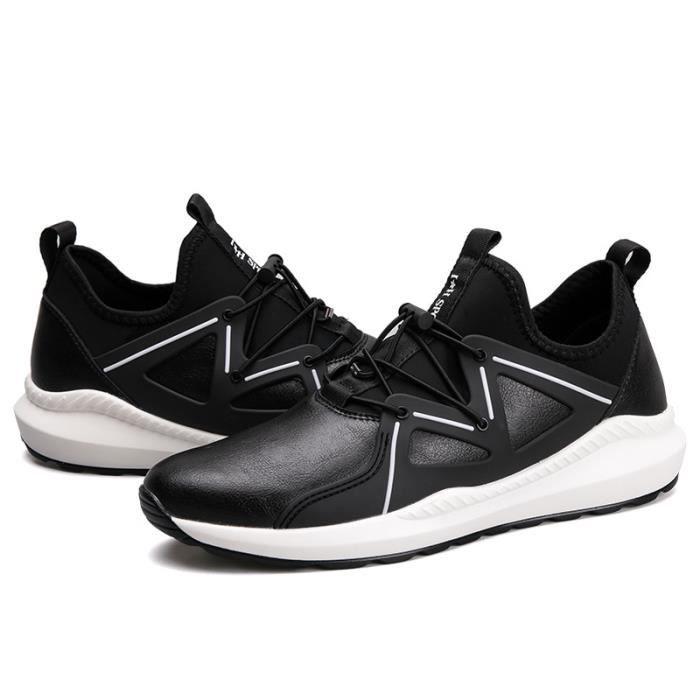 Baskets Homme Chaussure hiver Jogging Sport Ultra Léger Respirant Chaussures BTYS-XZ228Noir39-1 tjkAccnz9k