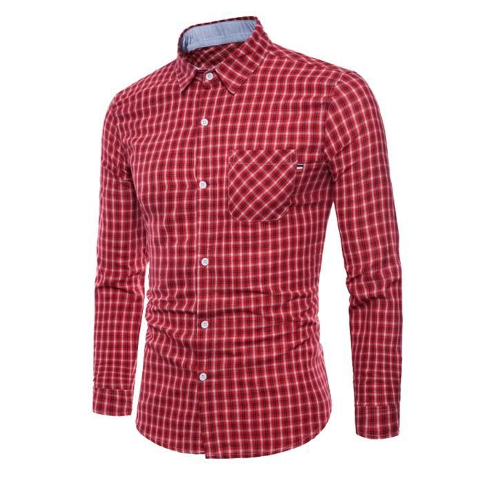 Vichy Vichy Vichy Chemise Homme Chemise Rouge Chemise Rouge Homme Rouge Chemise Homme DIWH29eEY