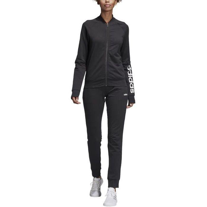 5d34b8843a6 Survêtement femme adidas Noir Noir noir blanc - Achat   Vente ...