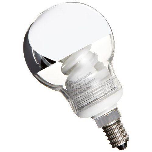 Paulmann 88075 fluocompacte Globe 60 7W E14 calotte argentée 230 V ...