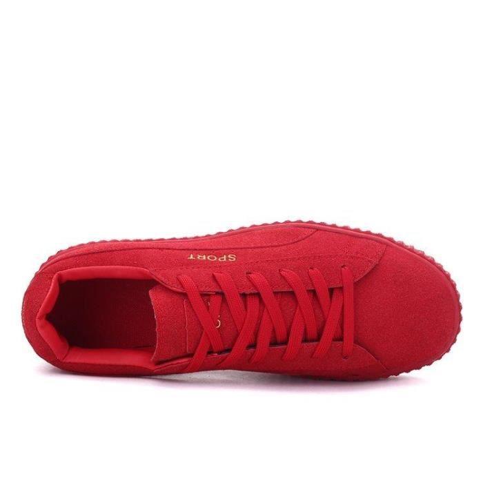 Chaussure Course A Pied Nouvelle Arrivee Mode Compensé Slip-On Casual Dexterity Haute Qualité Homme rouge 42 R12739026_120