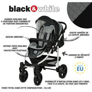 poussette black white achat vente poussette black. Black Bedroom Furniture Sets. Home Design Ideas