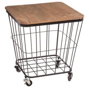 TABLE D'APPOINT Table coffre industriel Jordi - 39 x H. 43 cm - Ma