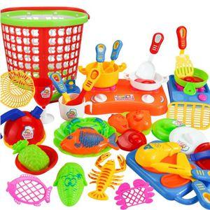 DINETTE - CUISINE 35pcs plastique Enfants enfants Cuisine Ustensiles