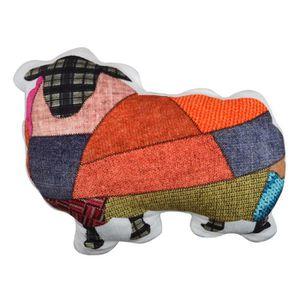 COUSSIN Coussin 3D Mouton Geometric Design en Velours pour