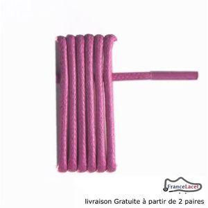 LACET  lacets cirés rose fuschia 45 cm