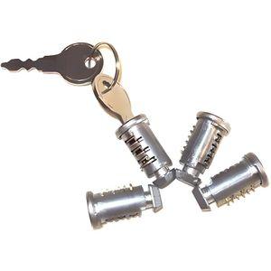 SERRURE - BARILLET Menabo tema 4 2 serrures et clés kit pour cylindre