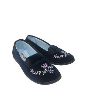 SLIP-ON Pantoufles slip-on en velours pour femme