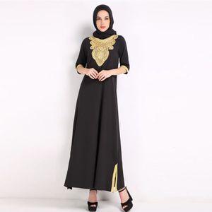 ROBE Robe musulmane avec broderie pour les femmes islam