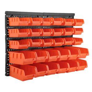 BAC DE RANGEMENT OUTILS 30pcs Boîte à outils, Boîtes de Rangement mural Ba