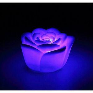 8d004a6901e30 LAMPE A POSER 20 Pcs Changement 7 couleurs LED Rose Fleures Lamp
