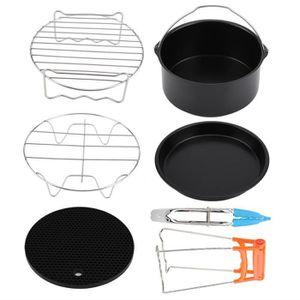 FRITEUSE ELECTRIQUE 7pcs set de Accessoires Air Friteuse Kit Pizza Pan