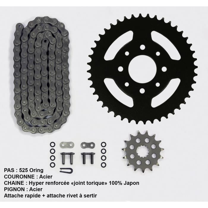 Kit chaîne pour Suzuki Gsf Bandit N/S 650 de 07-08
