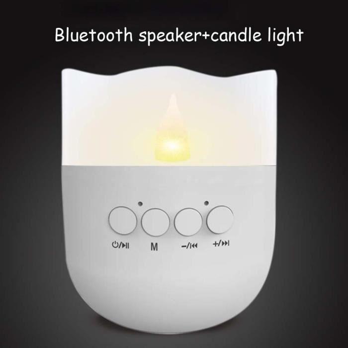 Mini Bluetooth Haut-parleur Sans Fil Haut-parleurs Portables Avec Bougie Lumière Mains Libres Tf_mo4053