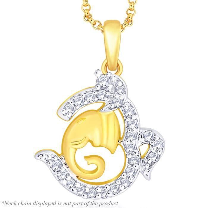 Cadeaux Diwali femmes plaqué or Vinayak Pendentif AF544