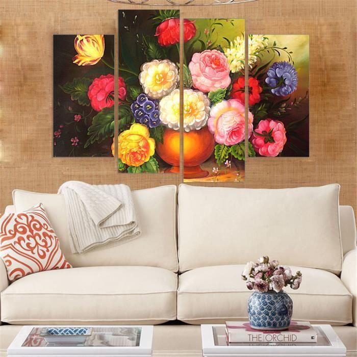 Non Encadrée Toile Peinture Impression Hd Fleurs Non