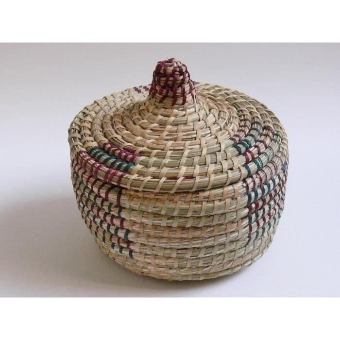 Panier en osier avec couvercle achat vente panier sac de plage 4250672659754 cdiscount - Panier en osier avec couvercle ...