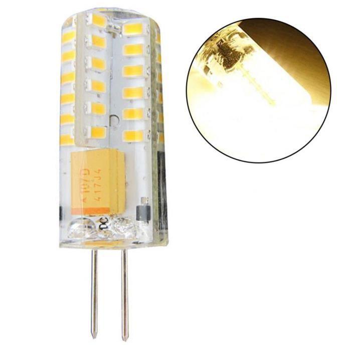 Chaud 64smd Led Ampoule Blanc 210lm G4 3w Cob Halogène 12v Remplacer Spot Lampe 1PHgff