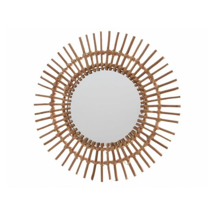MIROIR Miroir soleil en bois D.55cm LUCIE