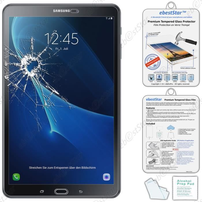 ebeststar pour samsung galaxy tab a 2016 10 1 t580 t585 a6 film protection cran verre. Black Bedroom Furniture Sets. Home Design Ideas