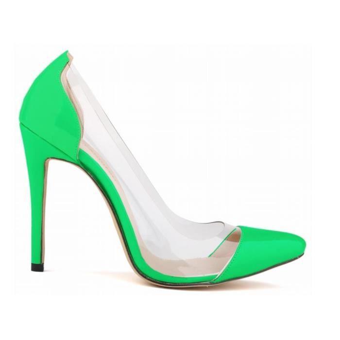 Chaussures talons de femme Pointu Vert