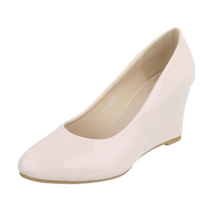Bleu Semelle rouge 41 Chaussures Beige Femme beige Compense noir Escarpin Foncé cqx8Yw8EA