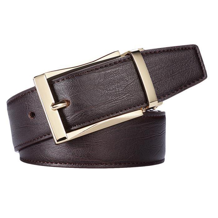 Ceinture réglable pour homme en cuir style d affaire formel ceinture ... fa7a659a65e